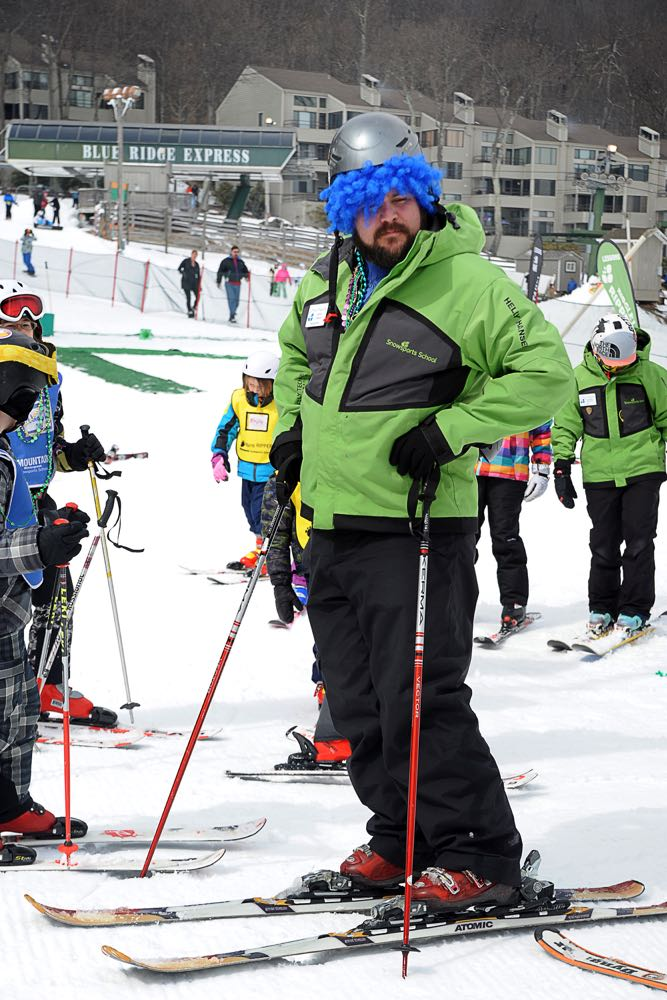 Folks broke out their Mardi Gras best as part of the annual slopeside parade put on by Wintergreen Adaptive Sports.