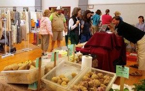 ©2016 Blue Ridge Life Magazine : Photo By Sarah Shelton : Folks gathered at the final indoor community market of this season held this past Saturday morning April 2, 2016.