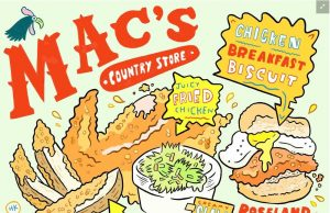 Illustration / photo courtesy of Hawk Krall & saveur.com : Mac's Country Store recently got some pretty neat recognition for their fried chicken.