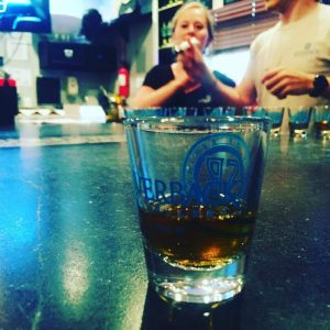 Photo By Yvette Stafford : A sample of the Lucky 13 Rye Whiskey this past Saturday - May 21 at Silverback Distillery in Afton.