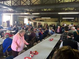 The Piney River Fire Department was packed on Saturday - February 18, 2017 as people attended their annual Chitterling Fundraiser Dinner.
