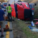 Nelson : Traffic Comes To A Stop After Tractor Trailer Flips On US 29 SB Near Eades Lane