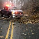Ice Covered Trees Bring Down Power Lines & Trees : Blocks Roads (updated 6:30 PM)