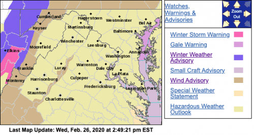 WIND ADVISORY : Late Wednesday Night Into Thursday For Parts Of The Area