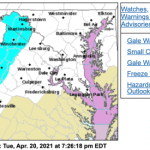 Freezing Weather Returns To The Blue Ridge Wed Night - Replaced By Freeze Warning