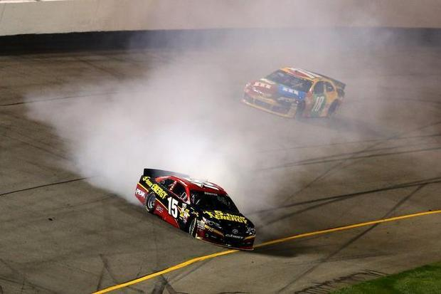The questionable spin by Clint Bowyer