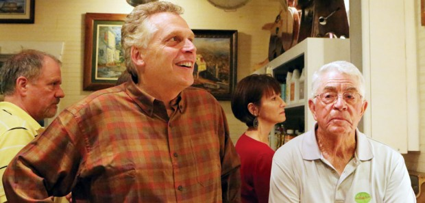 Terry McAuliffe campaigning in Floyd.