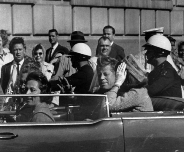 The President and his wife on that fateful day in Dallas