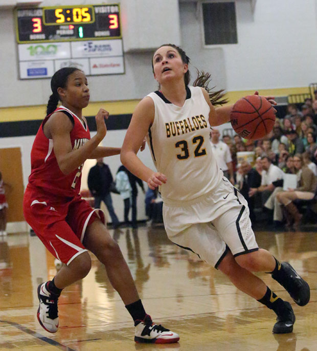 Emily Boothe of the Floyd County High School Lady Buff.
