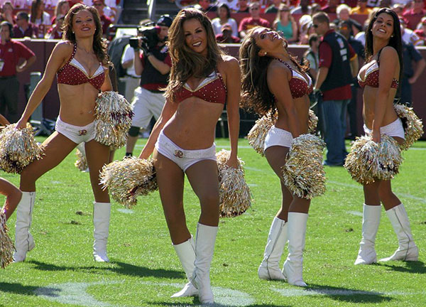 Before she was a governor's wife, Maureen McDonnell was a Washington Redskins cheerleader -- known as a Redskinette.  She is not in this photo.