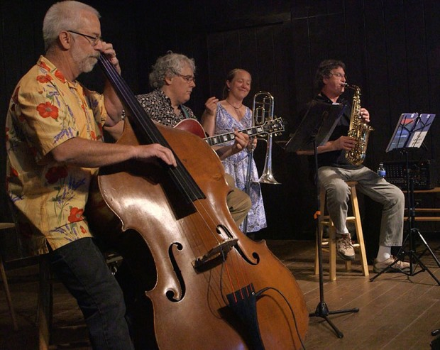 The Floyd-Montgomery Jazz Project performing at Oak Grove Pavilion Saturday night.
