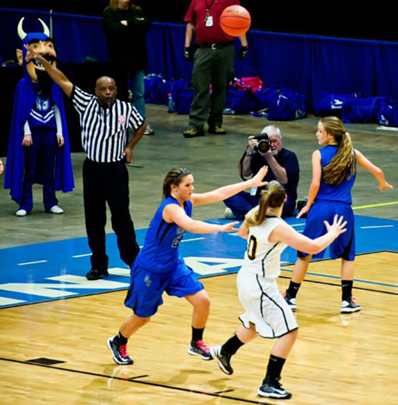 Shooting a state championship basketball game in Richmond (Photo by Chelsa Yoder)