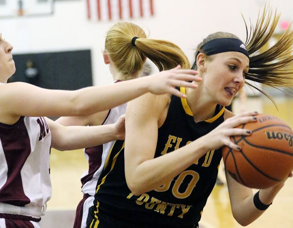 Carley Lytton in action under the basket