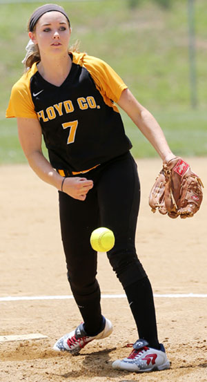 Mary Phillips delivered a strong performance on the mound.