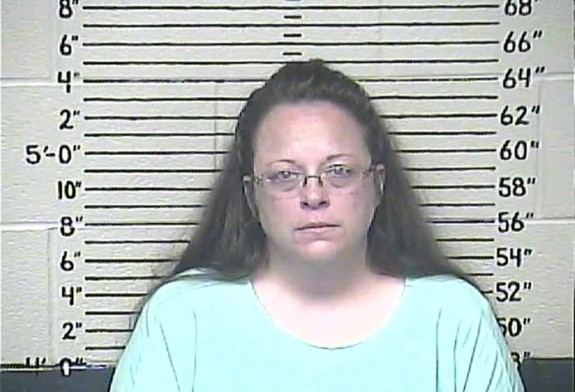 Kim Davis: In jail in where criminals like her belong.