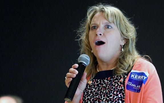 Deborah Baum, chairman of the Floyd County Democratic Party.