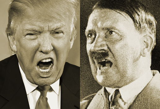 Donald Trump and Adolph Hitler: Birds of a feather.
