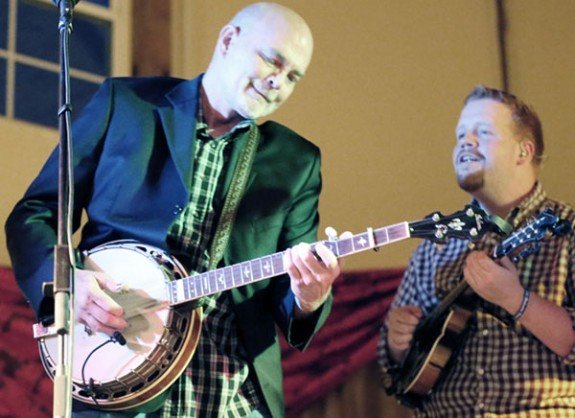 Sammy Shelor on Banjo and Randy Jones on Mandolin. (Photos by Doug Thompson)