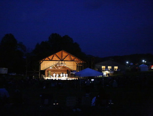 A picturesque night for Bluegrass music.