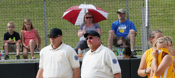 The heat was already taking its toll before the game between the All-Stars in the Dixie Regiional playoff game between Floyd and Radford.