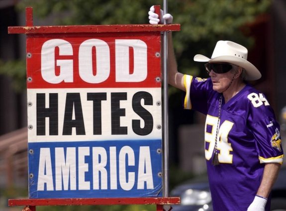 The late Fred Phelps, the angry Kansas minister who promoted hate, bigotry, racism and homophobia. (AP)