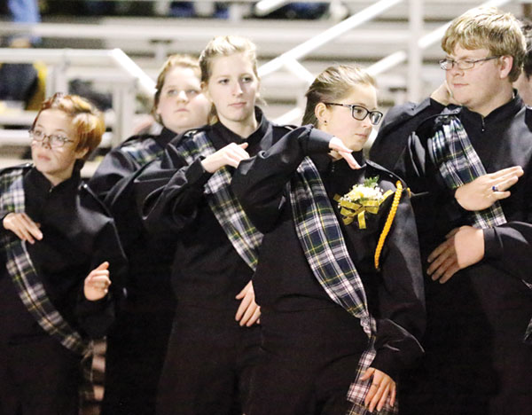 The Floyd County High School Marching Band dances to the beat. (Photos by Doug Thompson)