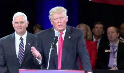 Donald Trump wilts in Roanoke. (WDBJ)