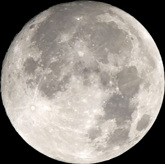The supermoon at 12:57 a.m. on Monday, November 14, 2016.