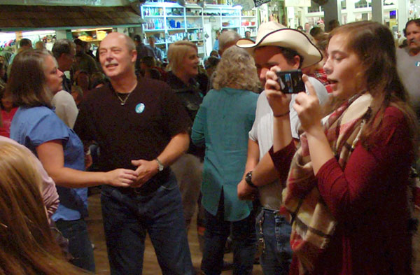 Dancing and cameras at The Jamboree.