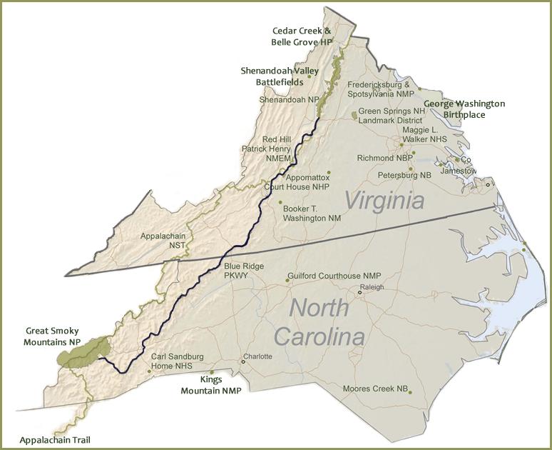 Image result for virginia north carolina map border