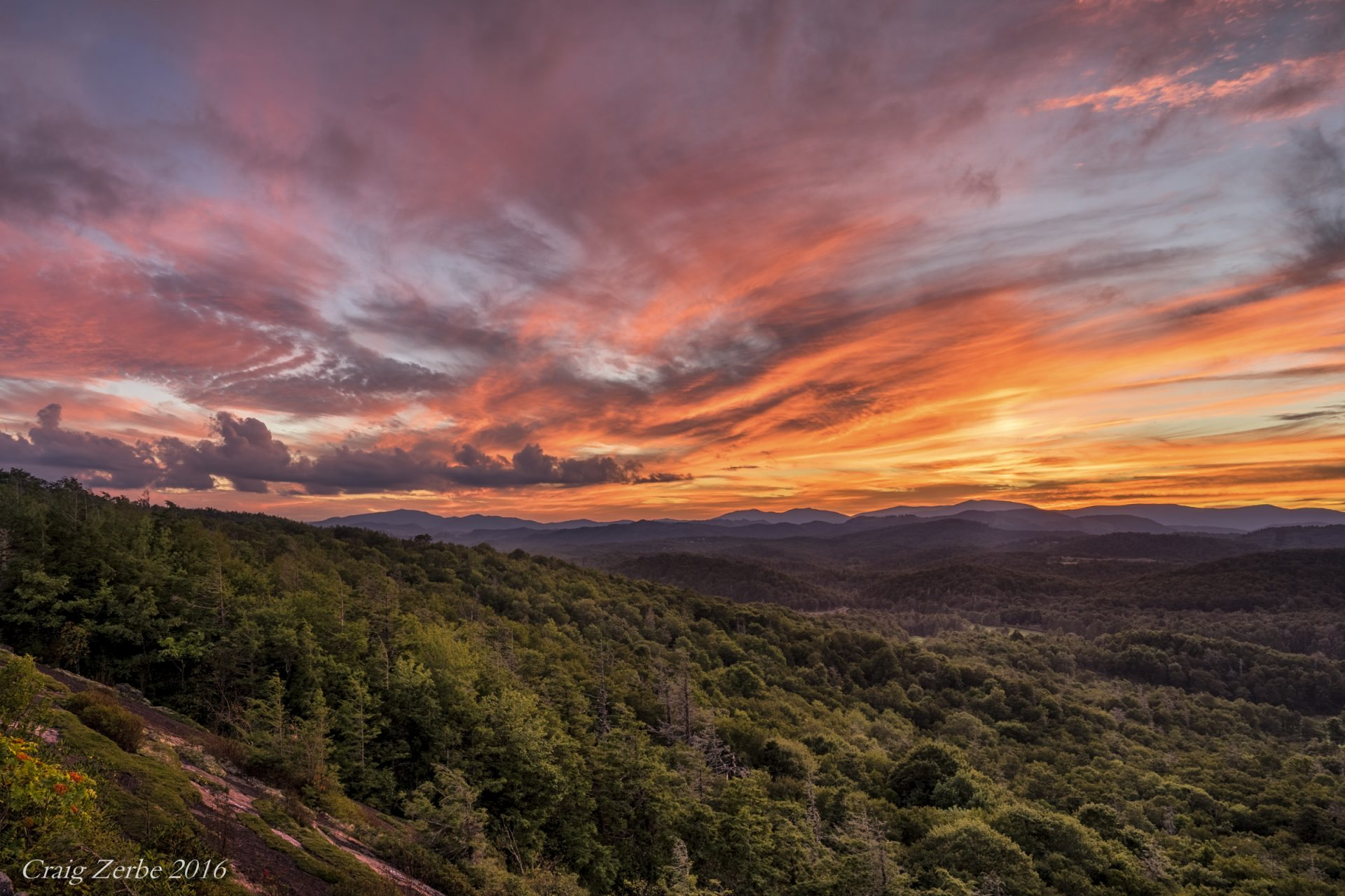 Fall Mountaons In The Sun Wallpaper Quot Sunset At Flat Rock Overlook Milepost 308 3 Quot By Craig Zerbe
