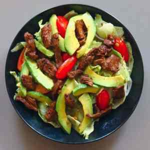 Japanese avocado and beef salad