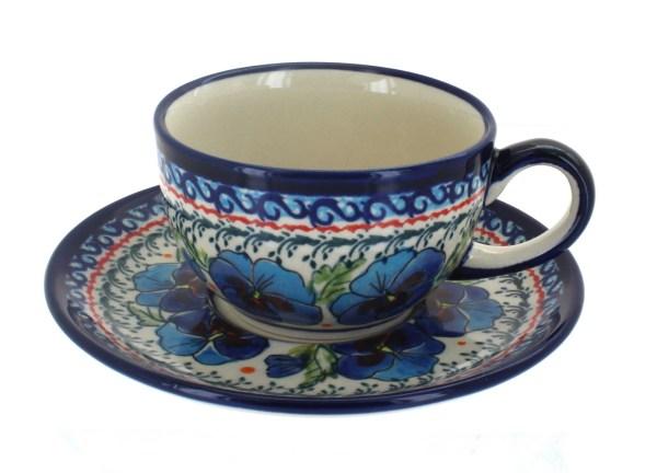 Blue Rose Polish Pottery - Marked