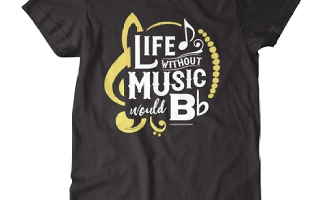 Life Without Music Would B Flat T Shirt Classic Heavy Cotton