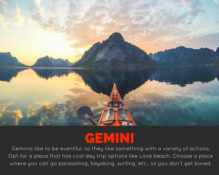 travel according to zodiac