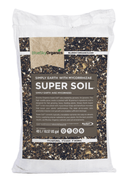 bluesky organics super soil which is inoculated for microbial growth