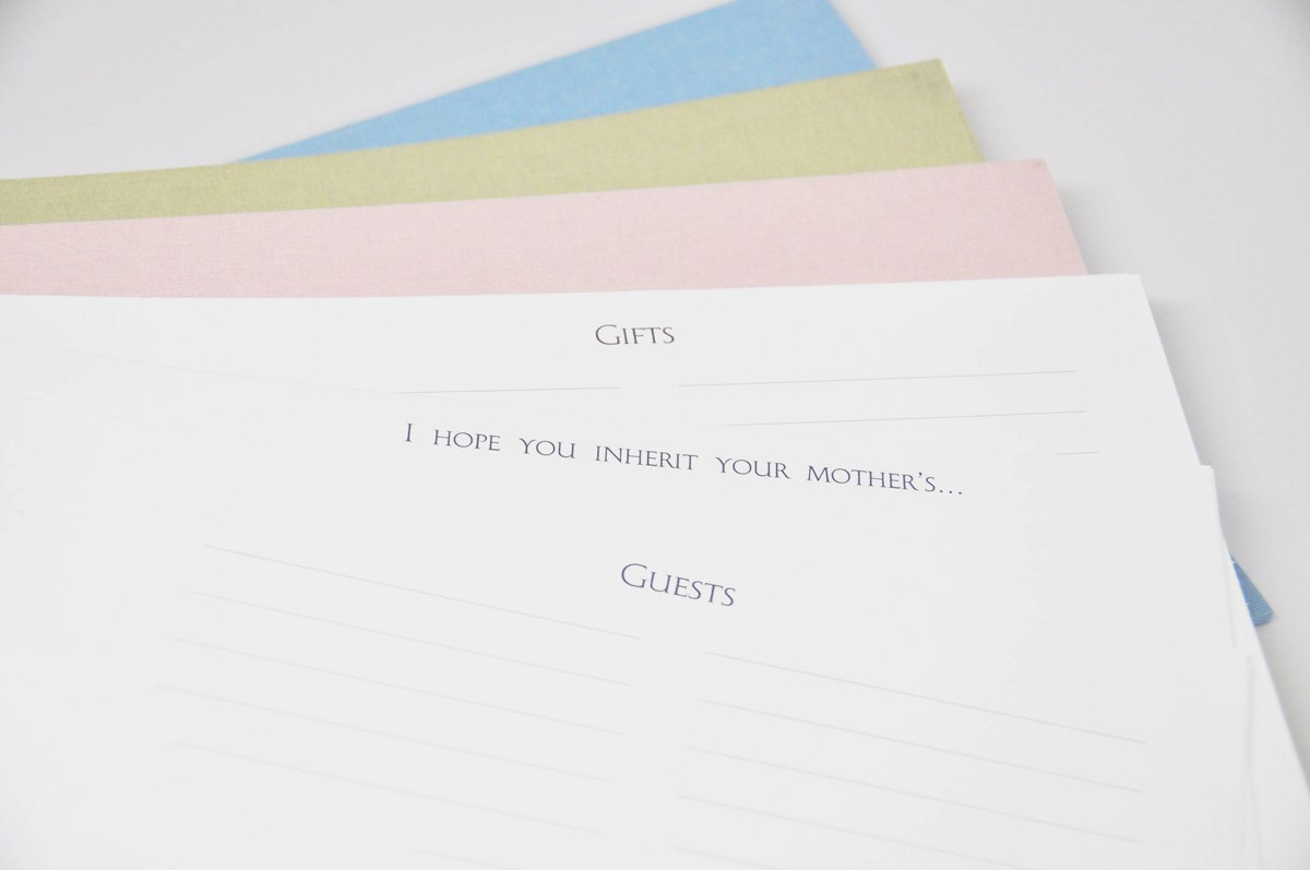 Baby Shower Guest Book by Blue Sky Papers