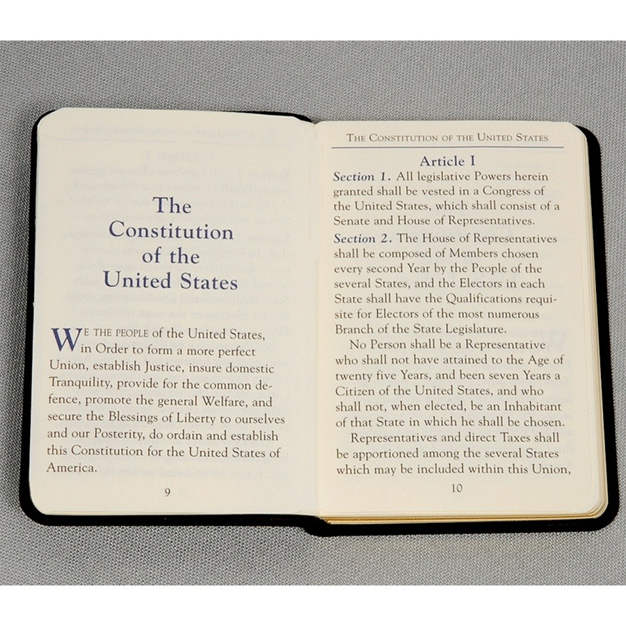 Mini United States Constitution Book Palm Sized For The
