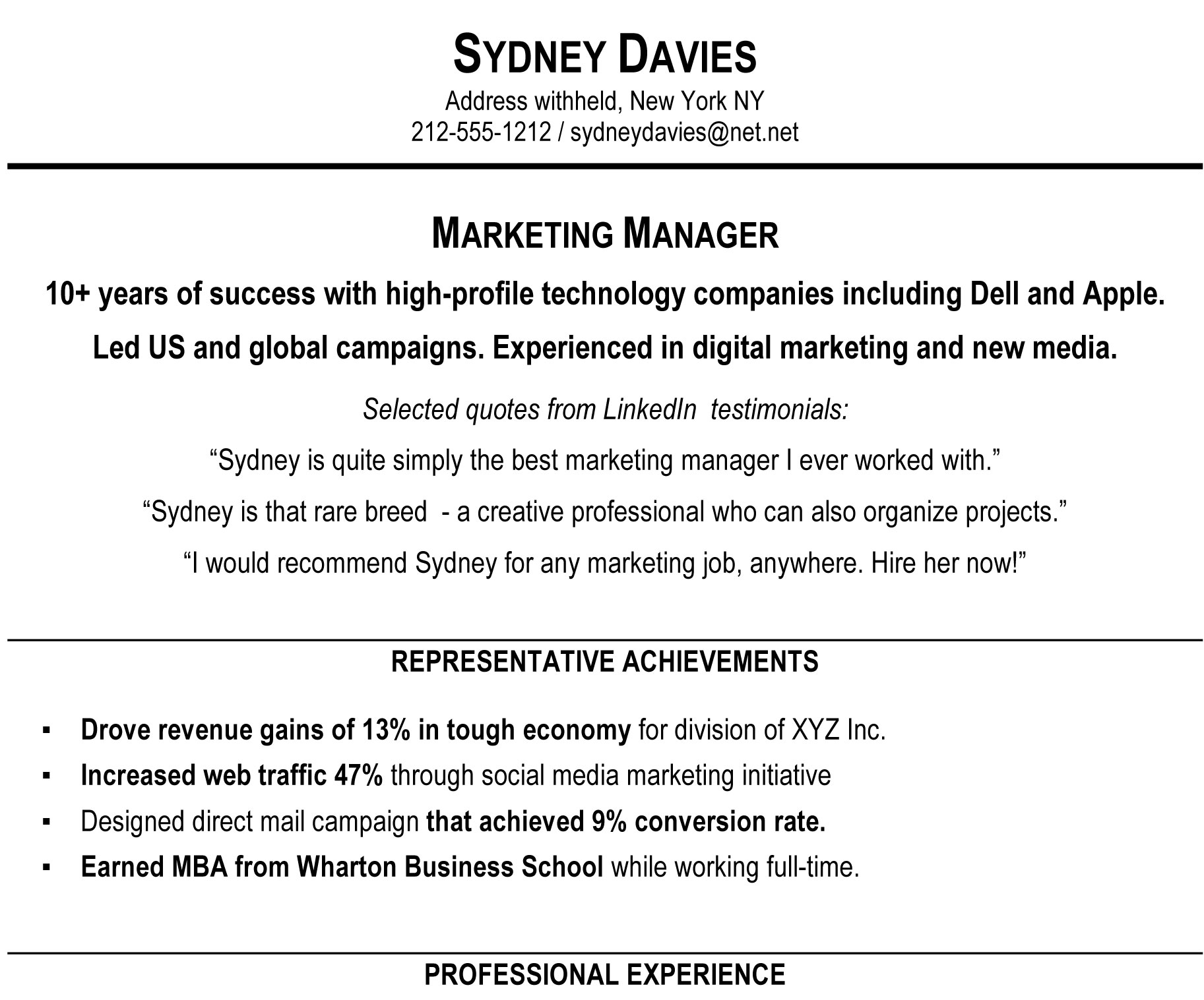 How To Write A Resume Summary That Grabs Attention Blue Sky  Sample Summary Statements