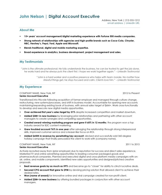 digital account manager resume samples