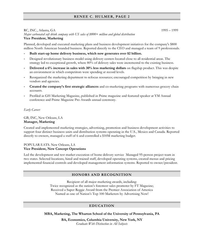 Marketing Executive  Free Resume Samples  Blue Sky Resumes