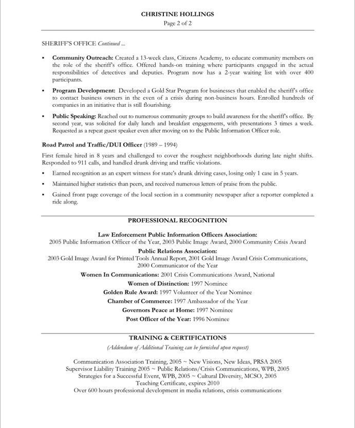 Public Relations Resume No Experience