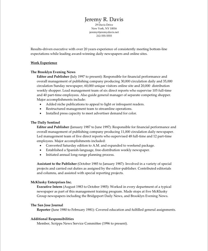 Managing Editor Free Resume Samples Blue Sky Resumes