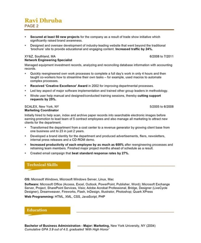Marketing Specialist Resume Example Best Resume Ideas