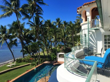 Pool and ocean view from master bedroom Maui