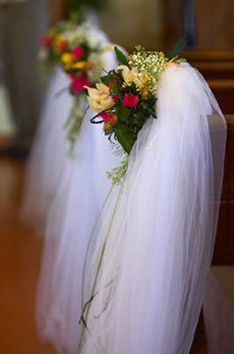 Yellow wedding flowers Blue Sky Weddings Maui