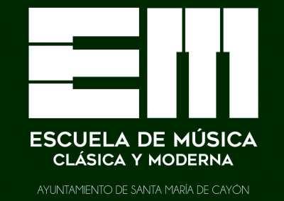 Logotipo Escuela de Música Clásica y Moderna Santa María de Cayón