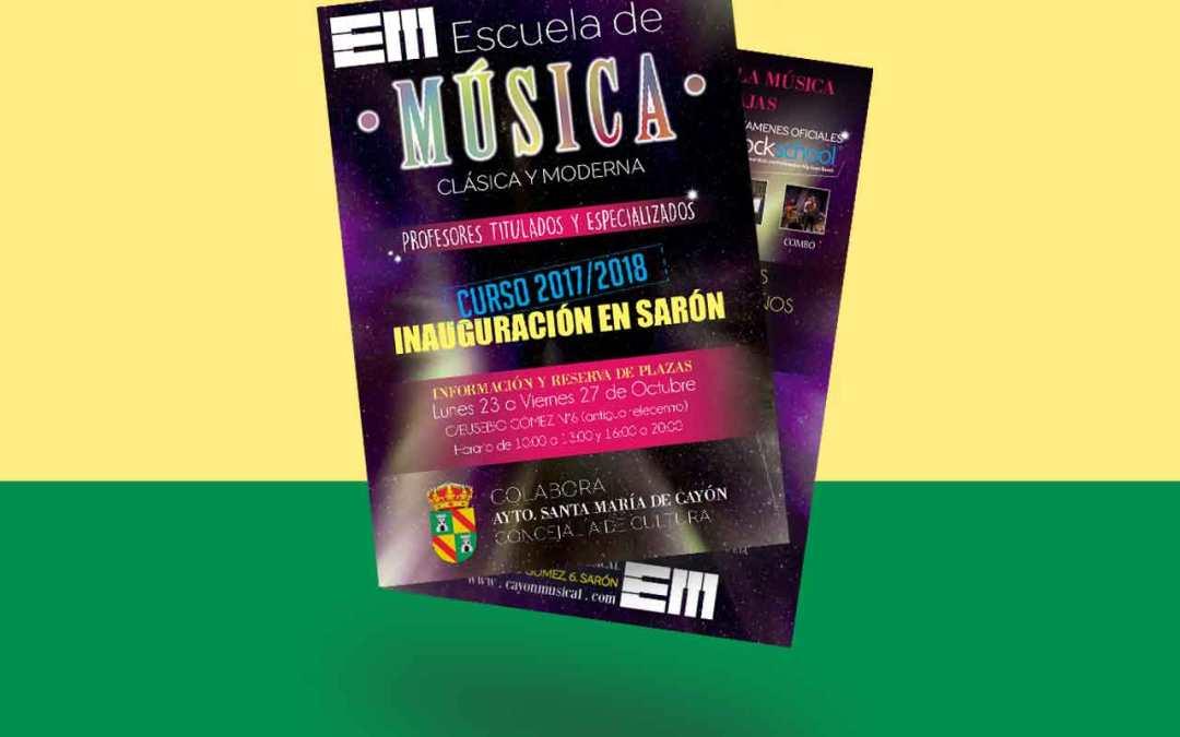 Flyer Escuela Música Cayón