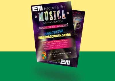Flyers Escuela Música Cayón