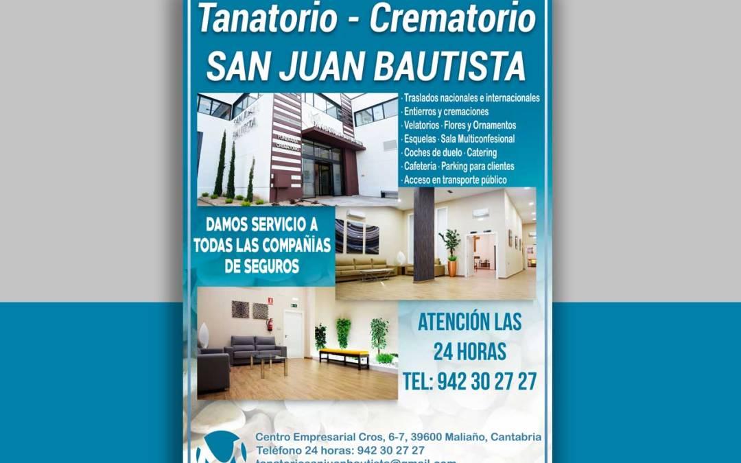 Cartel Tanatorio – Crematorio San Juan Bautista